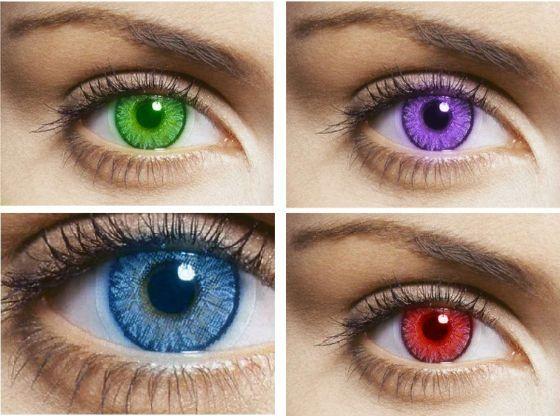 Как подобрать цветные линзы (серые, голубые, оттеночные, синие ...