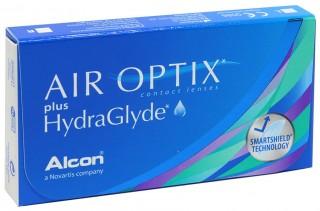 Контактные линзы Air Optix plus HydraGlyde (Акция: Opti-Free™ PureMoist™ 60 мл в подарок к упаковке линз) - linza.com.ua